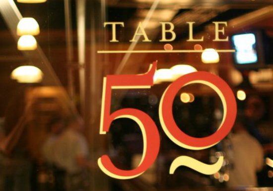 Table 50 sign