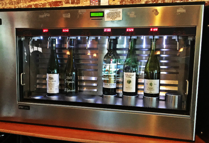 Wine chiller at Kybecca