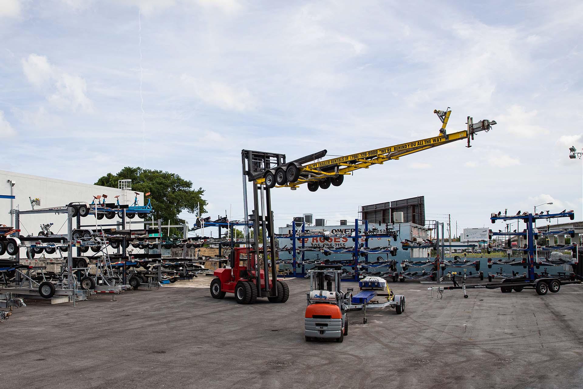 Happy Trailer Boat Storage Facility Miami 5