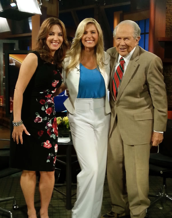 Wendy Griffith, myself, and Pat Robertson