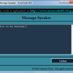 Message Speaker