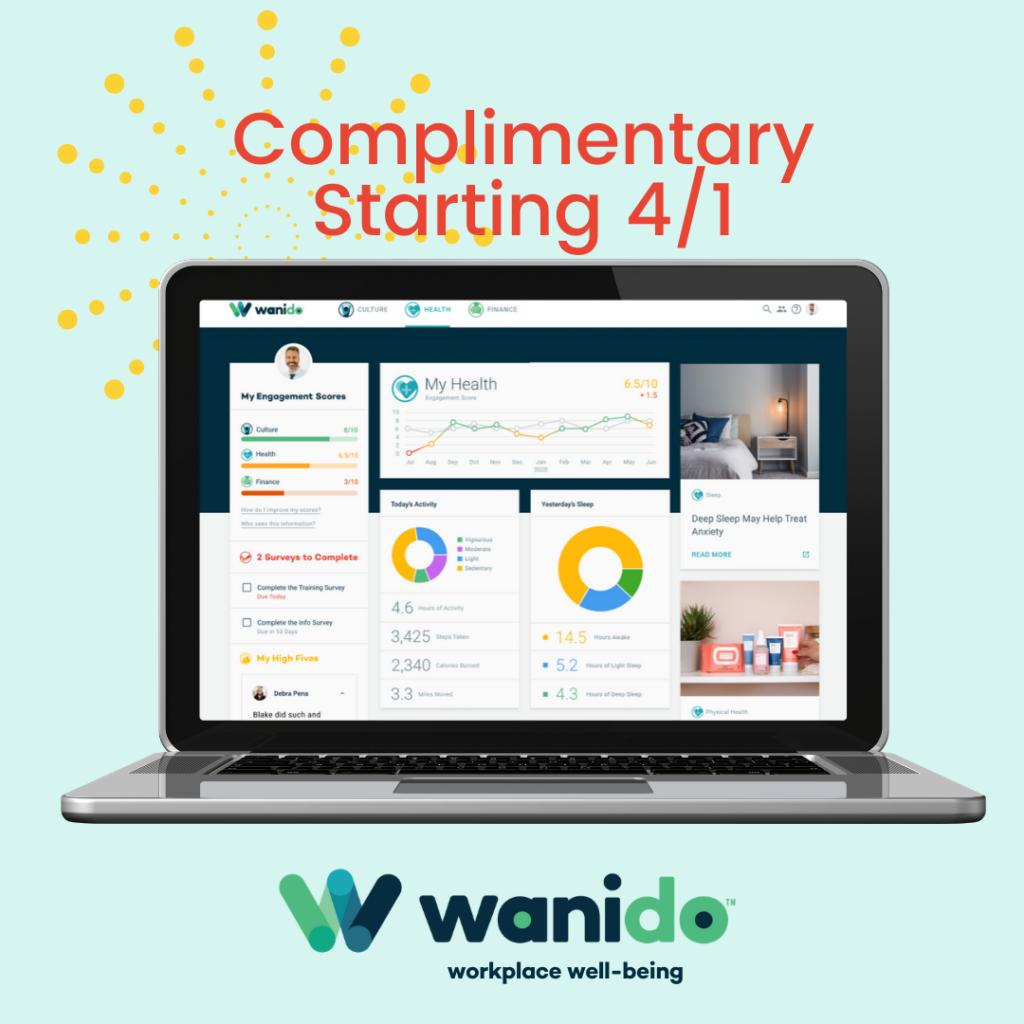 Wanido screen shot complimentary starting 4/1