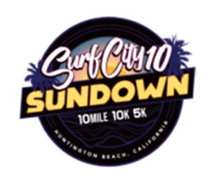 AREC Surf City 10 Sundown 10 Mile 10k 5k Race Logo