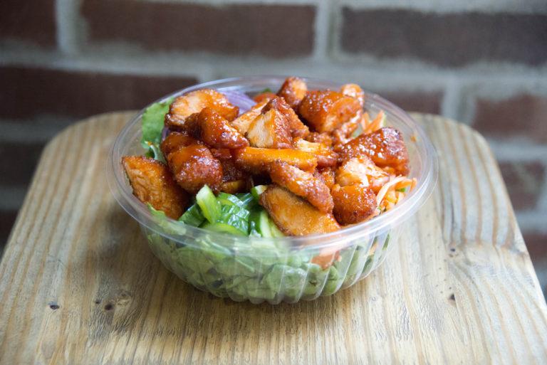 spicy chicken asian salad A