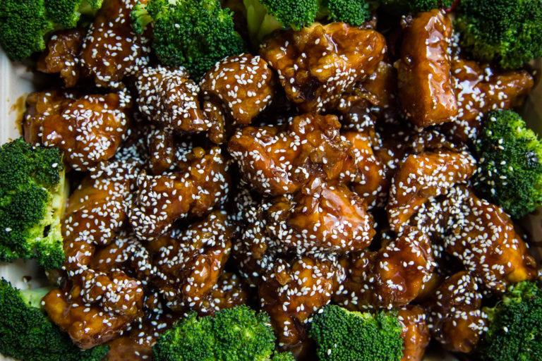 sesame chicken tray