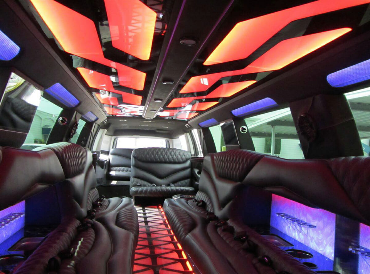H2 Hummer Stretch Limo interior