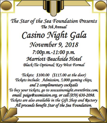 Casino Night Gala @ Marriott Beachside Hotel Marriott Beachside Hotel