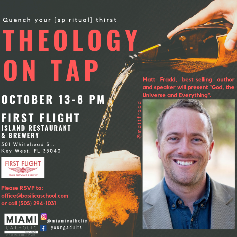Theology on Tap @ First Flight Island Restaurant & Brewery