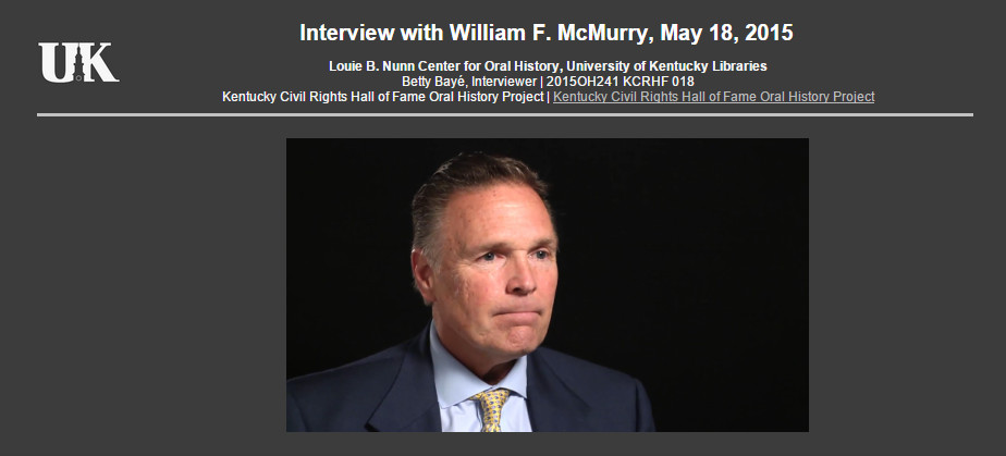 Interview with William F. McMurry, May 18, 2015