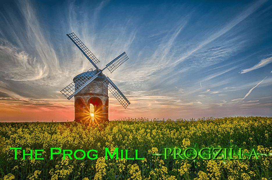 Windmill in a field of yellow flowers - The Prog Mill