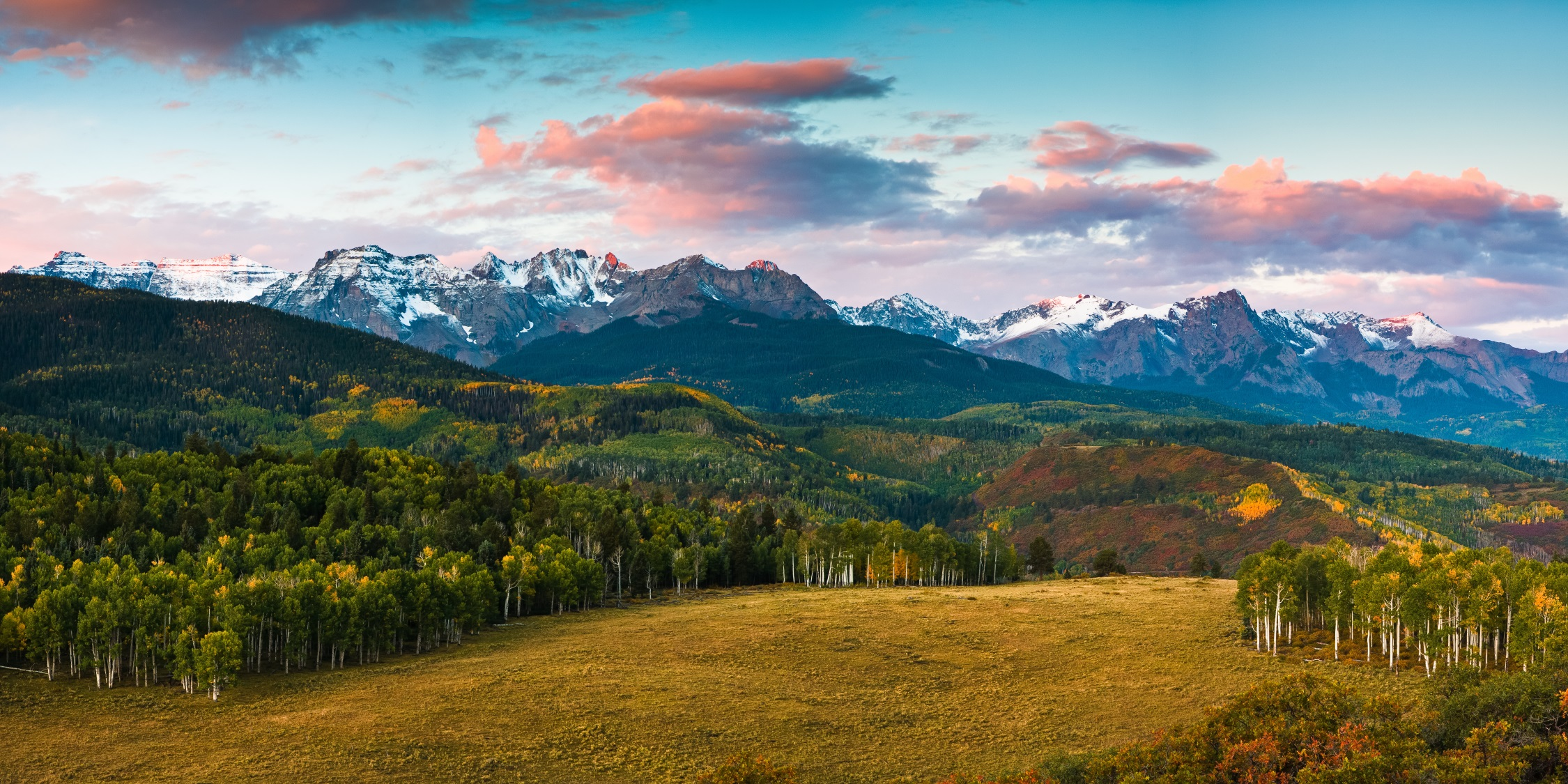 First Light in the San Juan Mountains (photo)