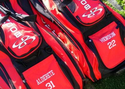 Red Baseball Bags