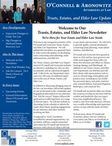 Trusts, Estates, and Elder Law Newsletter