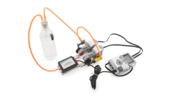 Gas Pressure Sensor product image, connected with sealed bottle