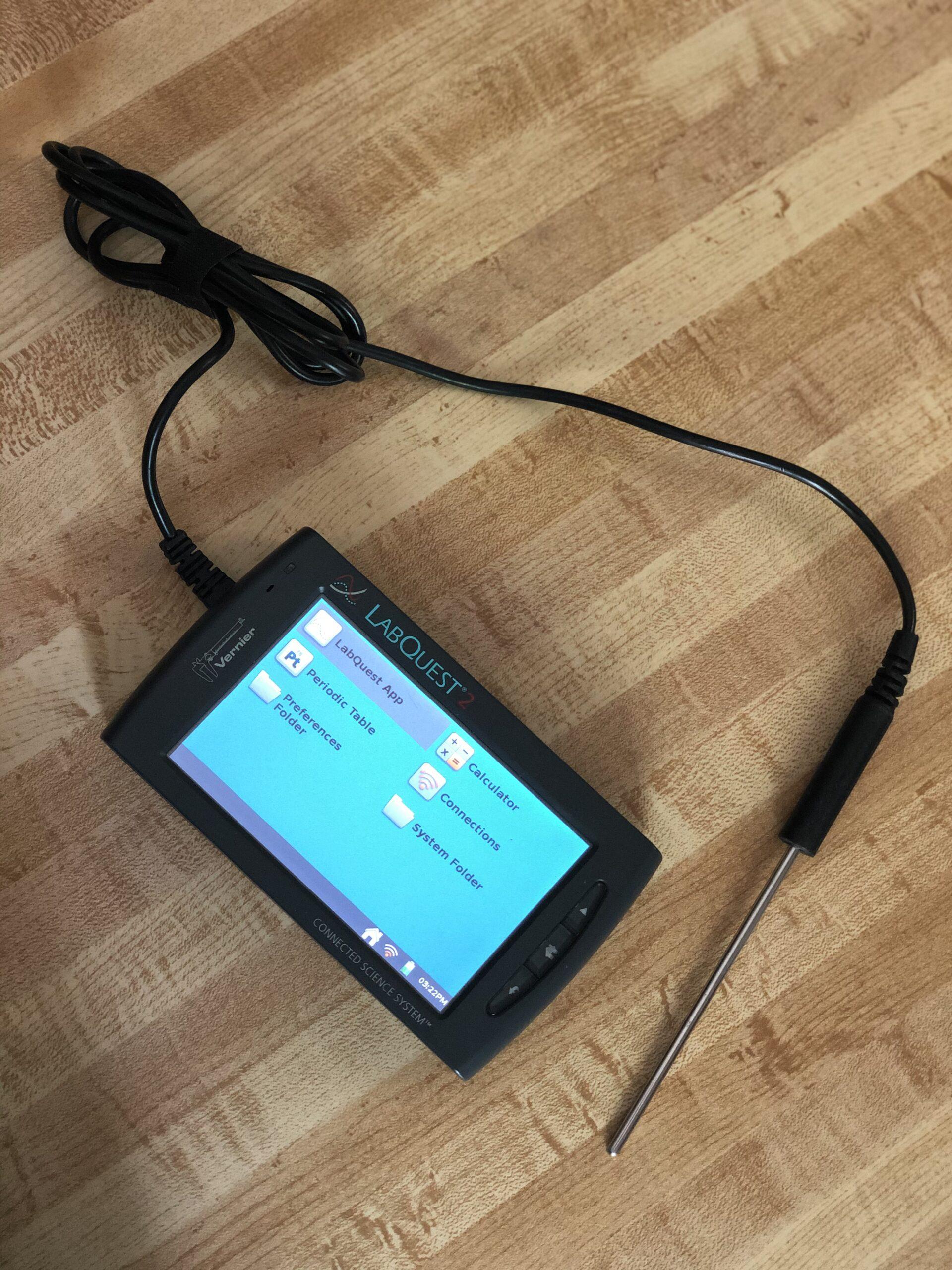 Talking LabQuest setup with temperature sensor