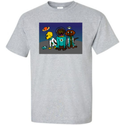 "Image of the ""Labs in Space"" shirt from the Labs on a Quest Collection"