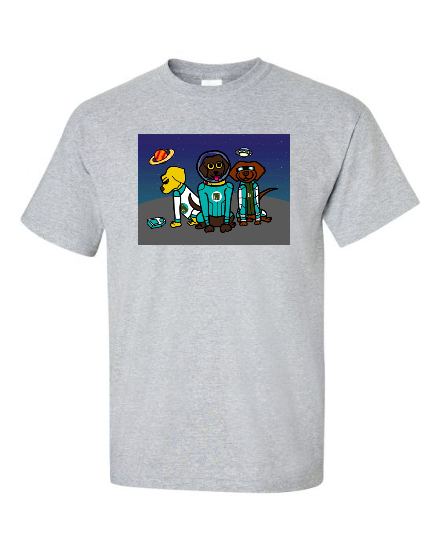 """Image of the """"Labs in Space"""" shirt from the Labs on a Quest Collection"""