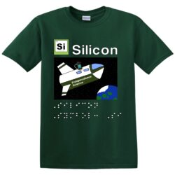 "image of the front of the ""Meet the Elements: Silicon"" T-shirt"