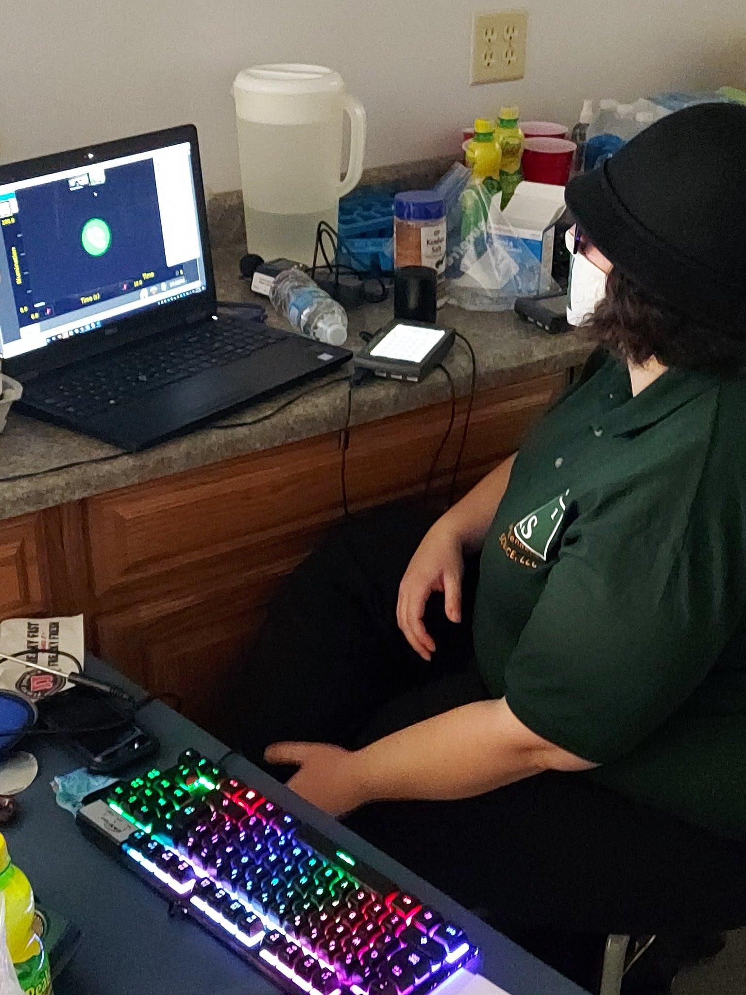 Ashley does a virtual mentoring lesson