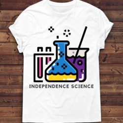 """8-bit science"" t-shirt mock up"