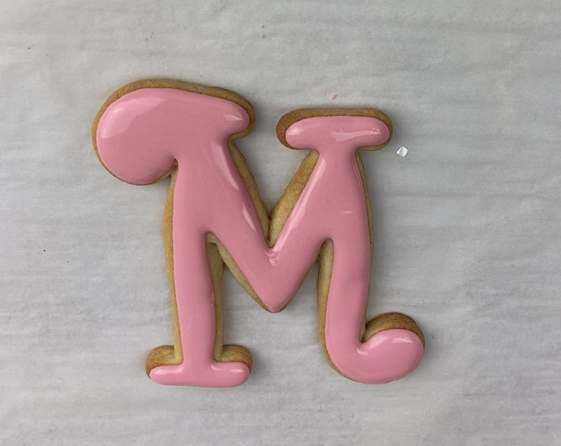 Flood M for Mother's Day Flower Cookies