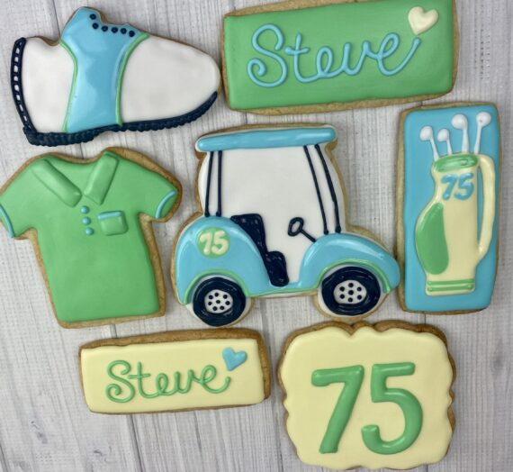 Golf Theme Birthday Cookies