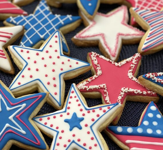 Stars and Fireworks Cookies