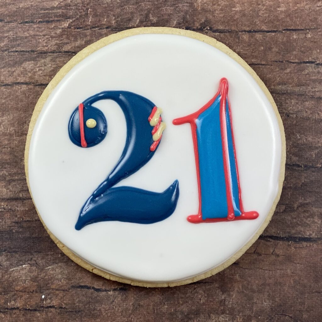 Final 21 for 21st Birthday Marine Cookies