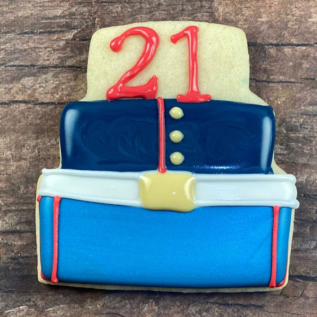Final cake for 21st Birthday Marine Cookies