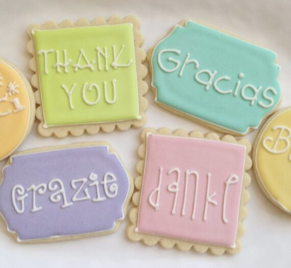 Ways to Say Thank You Cookies