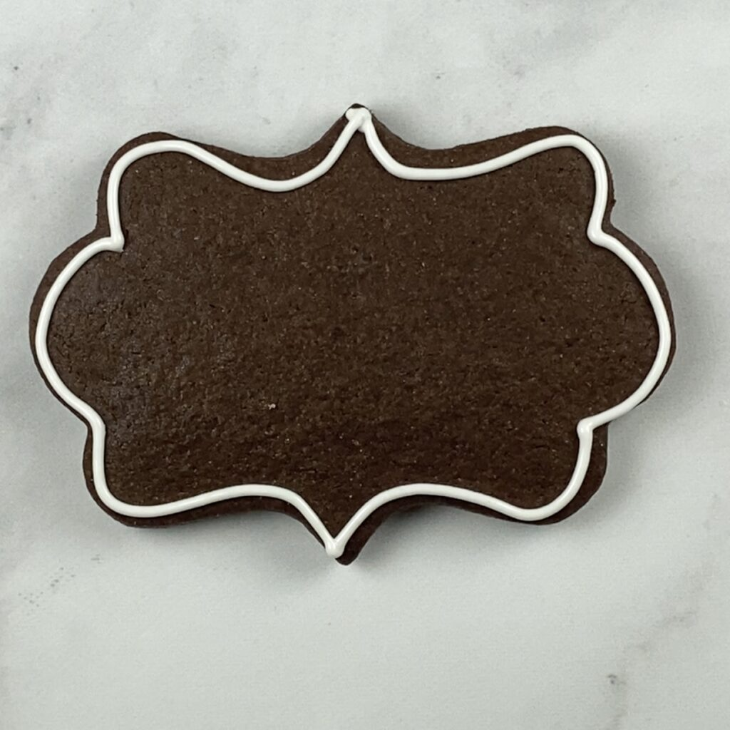 Outline plaque cookie for Another Year of Fabulous Cookies