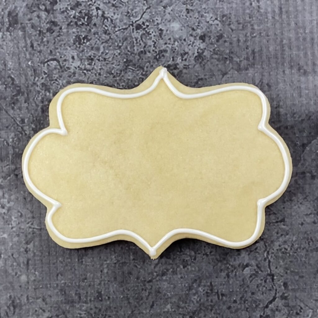 Outline plaque cookie for Cancer Succs cookies