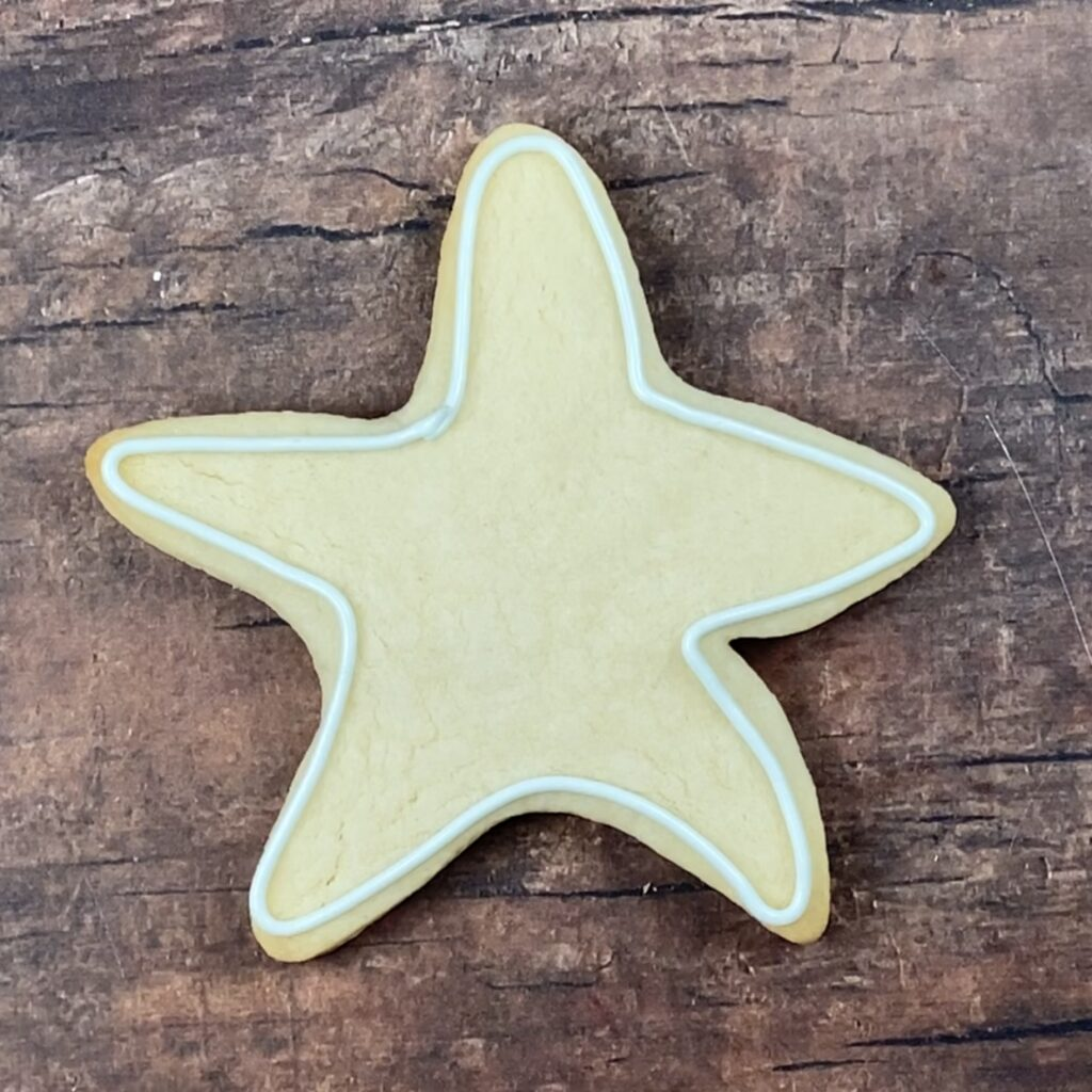 Outline sea star for Life's a Beach Cookies
