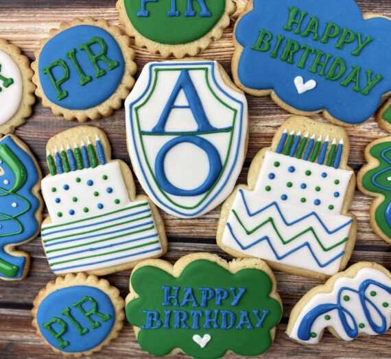 Monogram Birthday Cookies