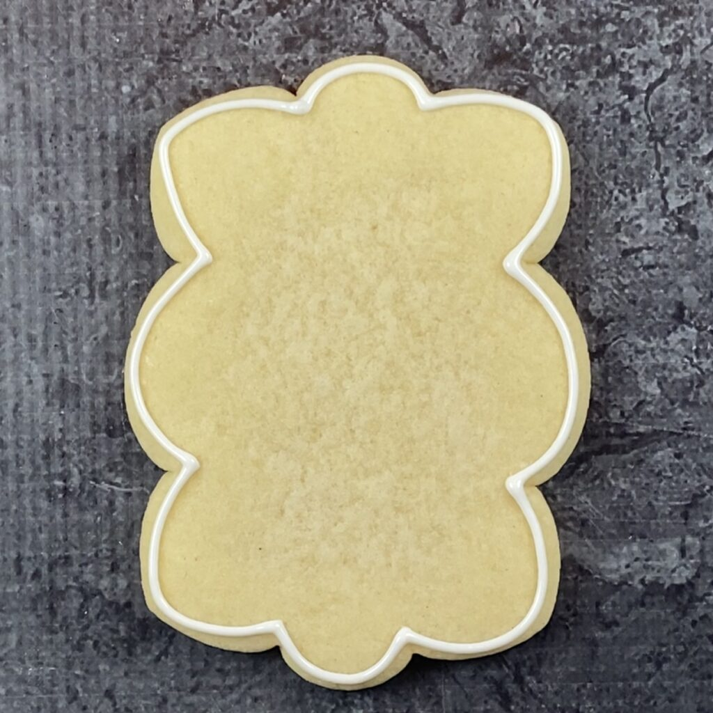 Outline plaque for meet me at the carrot patch cookies