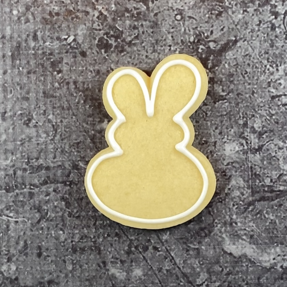 Outline bunny for meet me at the carrot patch
