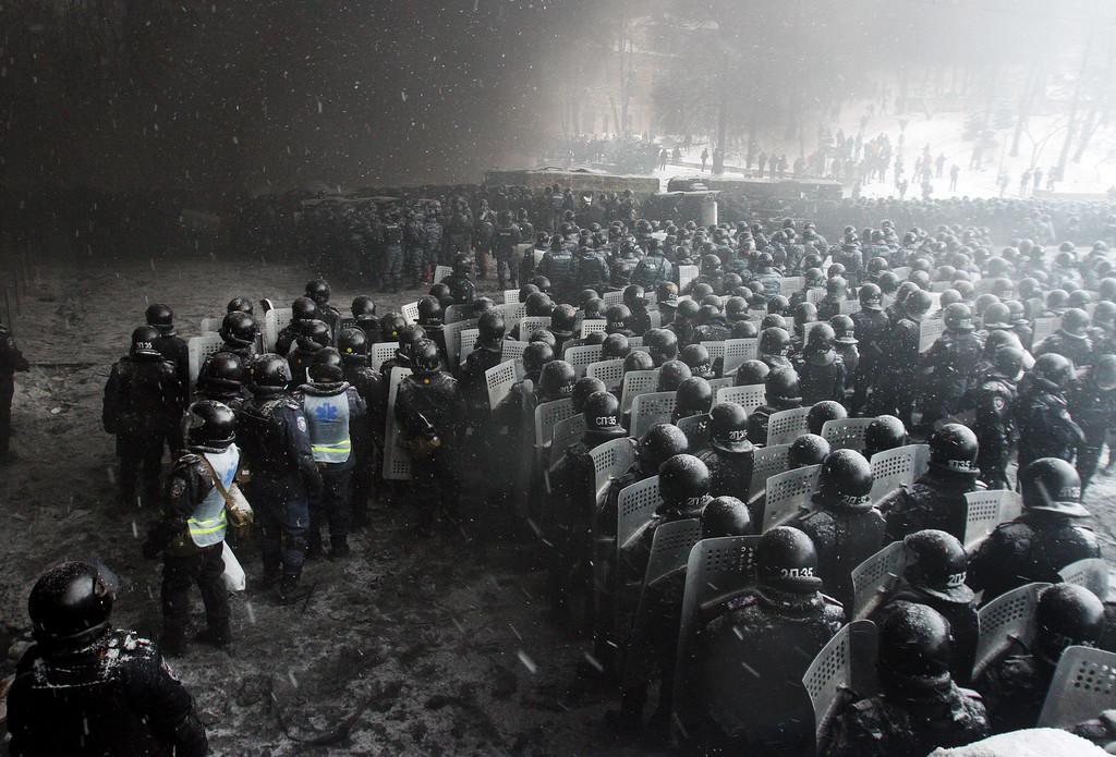 """TOPSHOTS 2014-UKRAINE-EU-RUSSIA-UNREST-POLITICS-DEMO"""