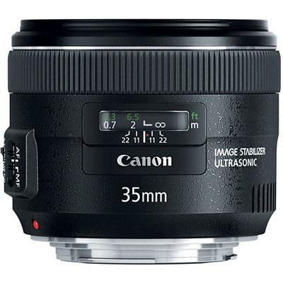 A lente Canon 35mm f/2, para comparação.