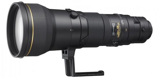 A lente atual de 600mm.