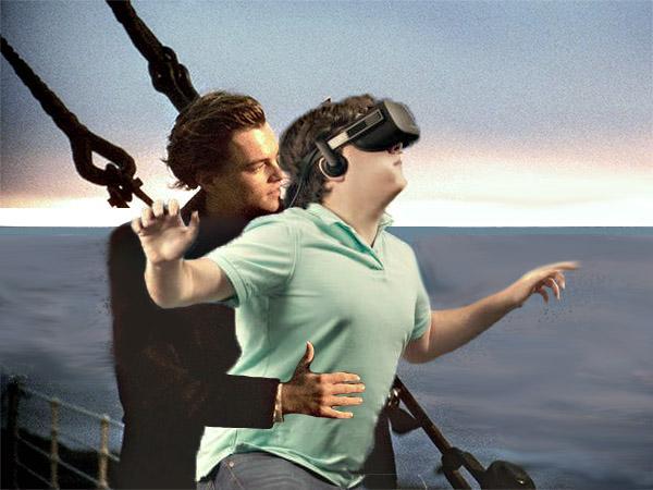 E começa a zoeira... Montagem da foto de Luckey com Jack do filme Titanic
