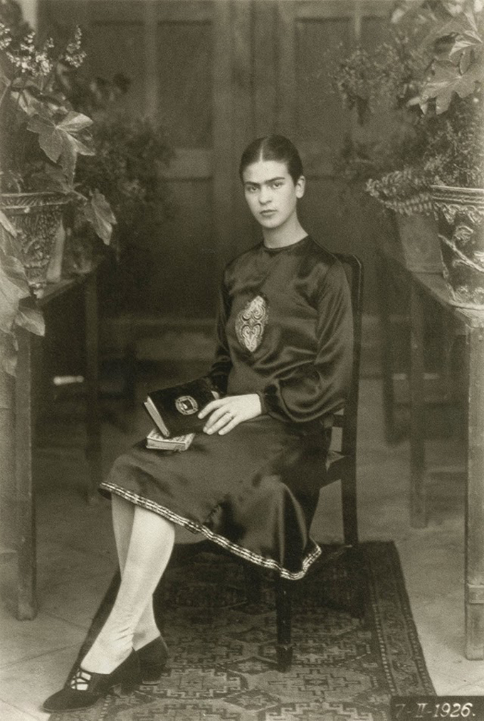 Frida Kahlo com 18 anos em 1926