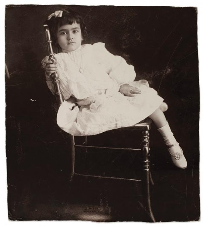 Frida Kahlo com 5 anos em 1912