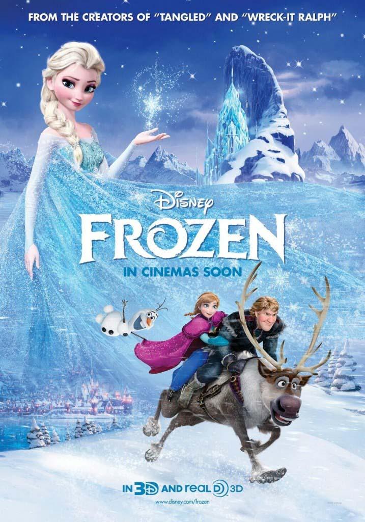 """Cartaz do filme """"Frozen"""" da Disney"""