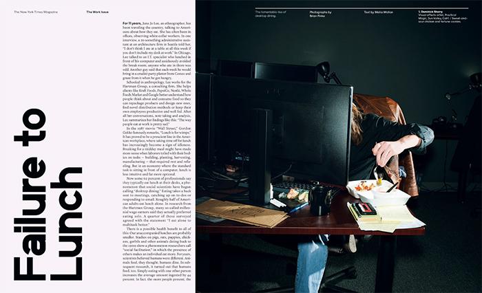 A matéria com as fotos de Brian Finke no The New York Times