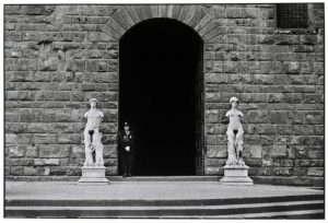 ITALY. Florence. 1949. A guard at Palazzo Vecchio.