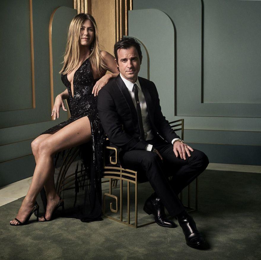 Jennifer Aniston e Justin Theroux   Foto: Mark Seliger
