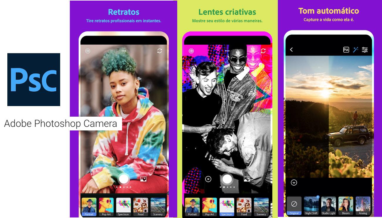 Aplicativo Adobe Photoshop Camera
