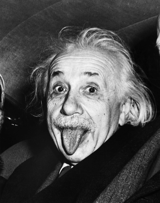 história por trás da foto - Albert Einstein mostrando a língua