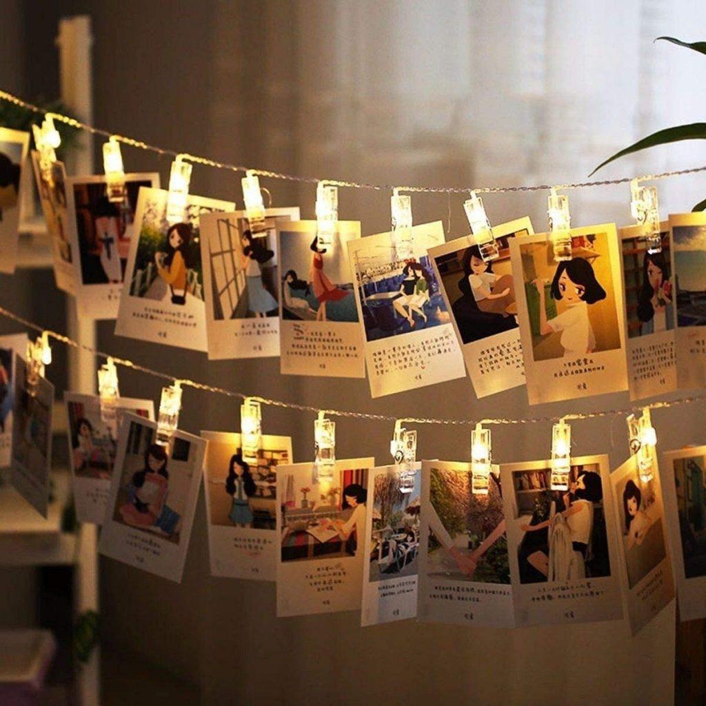 Varal Luminoso - Decoração com fotos