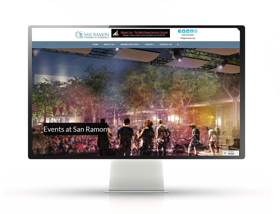 Functional, Visually Appealing Website Design   San Ramon Chamber of Commerce